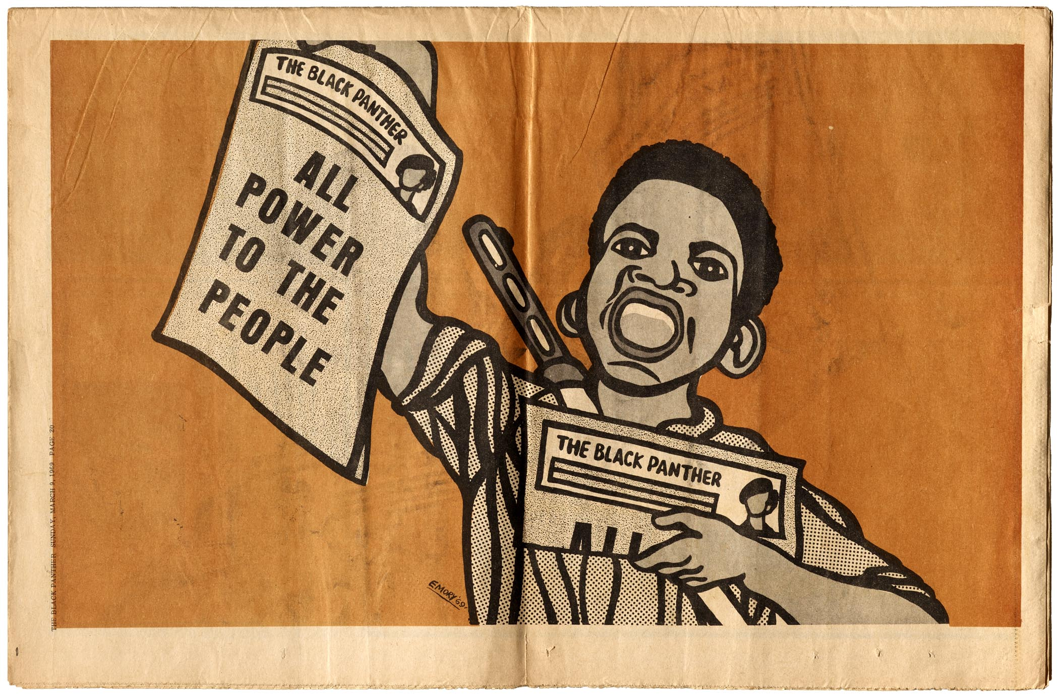Letterform archive this just in emory douglas the black panther the black panther march 8 1969 malvernweather Images