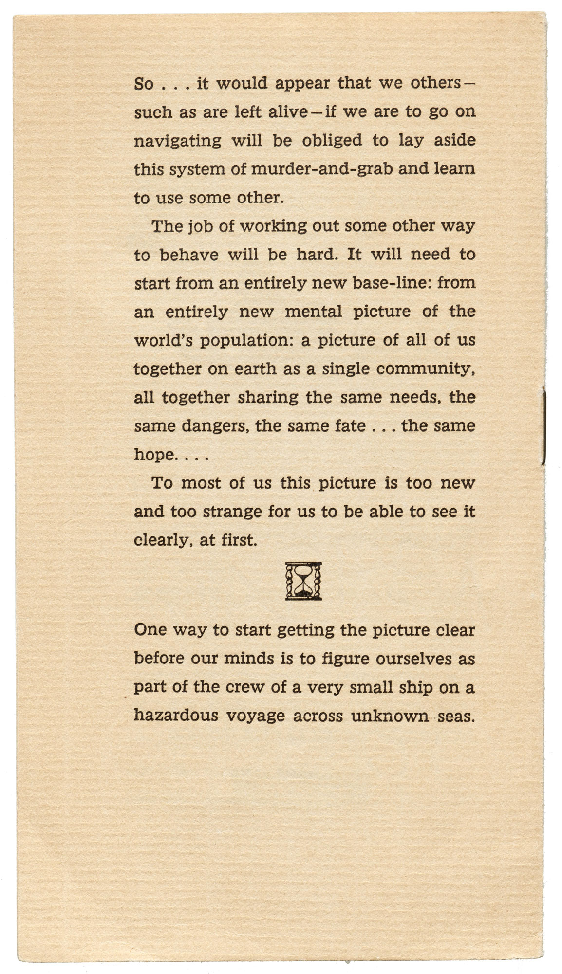 W. A. Dwiggins, Good Ship Earth, Typophiles, NY, 1943 - back cover