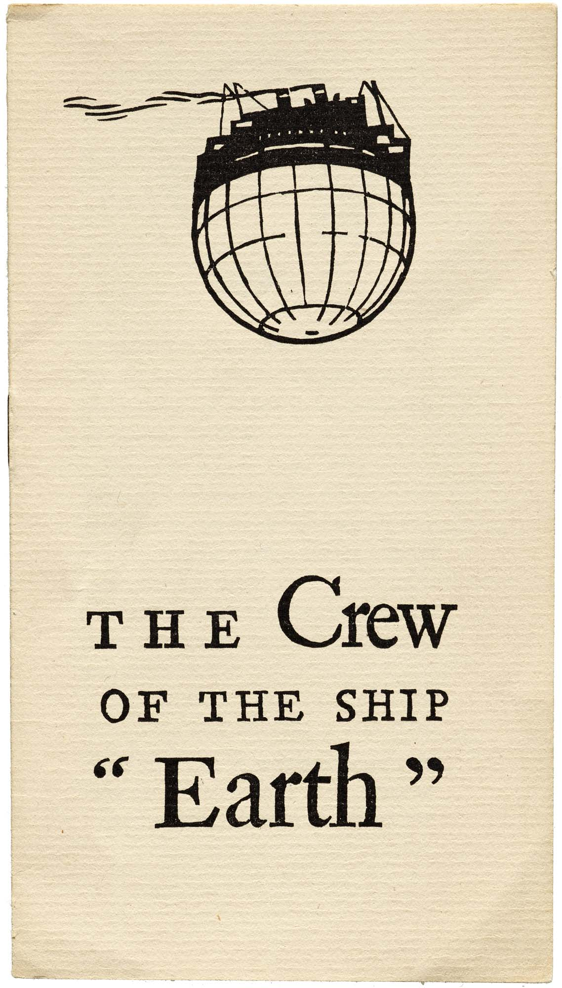 W. A. Dwiggins, Good Ship Earth, Typophiles, NY, 1943 - cover