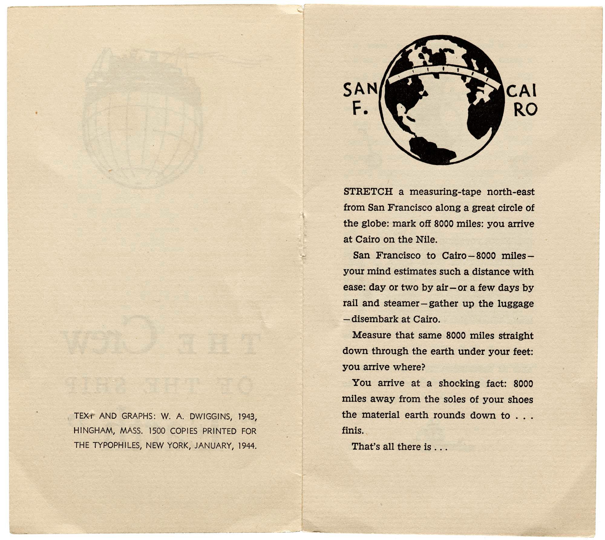 W. A. Dwiggins, Good Ship Earth, Typophiles, NY, 1943 - pages 2–3