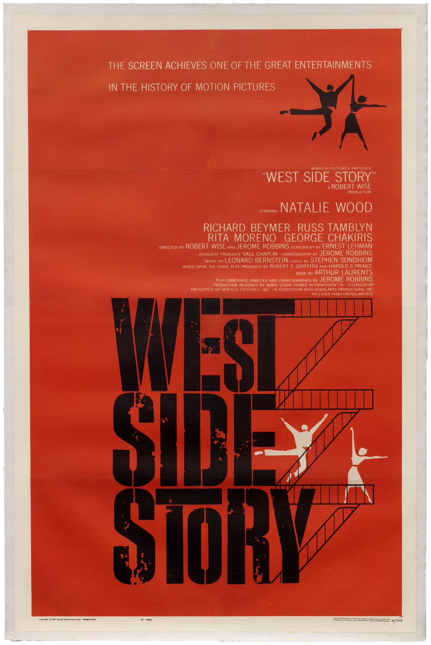 Joseph Caroff (not Saul Bass), West Side Story, 1961.