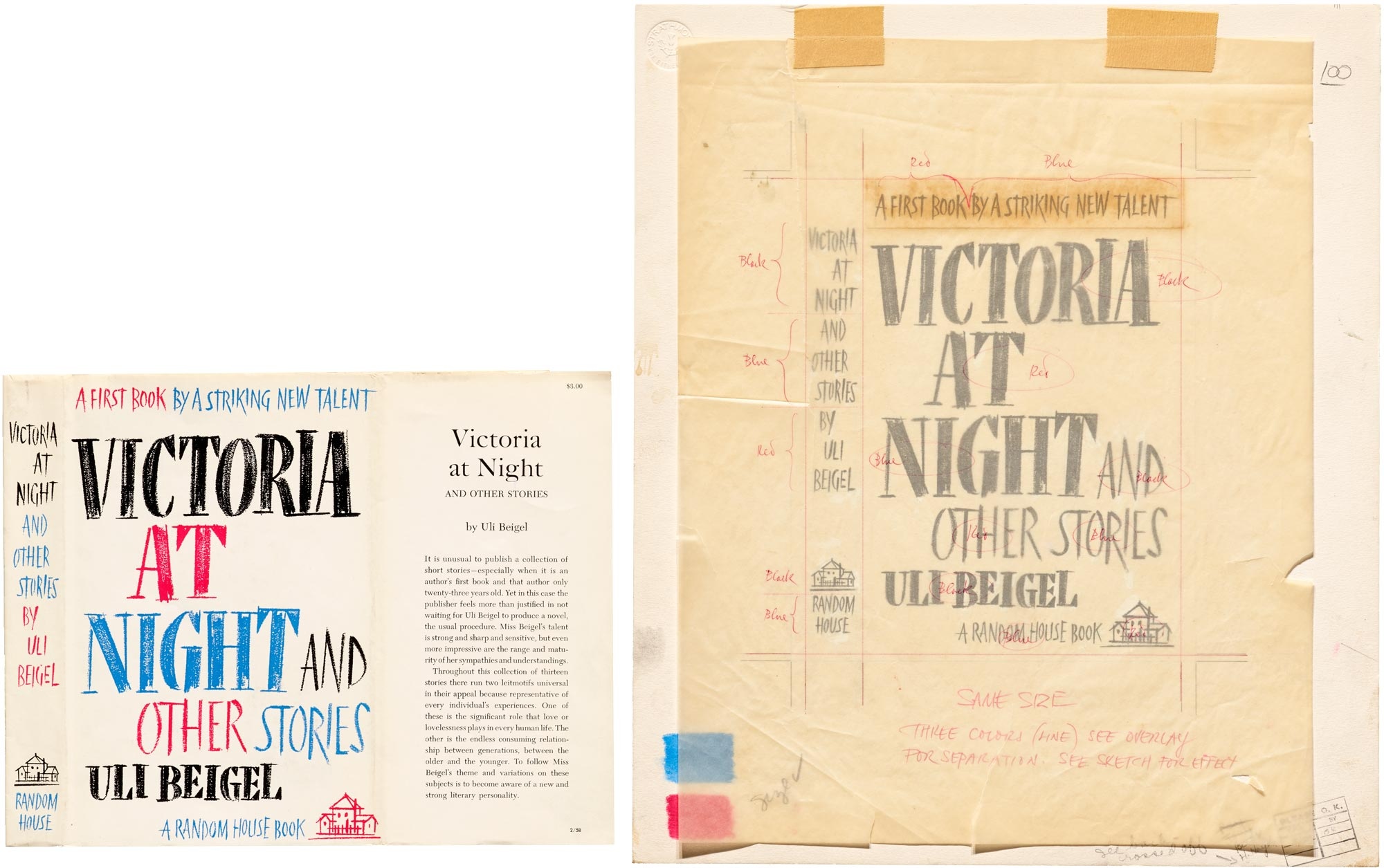 "Philip Grushkin, jacket for ""Victoria at Night and Other Stories"""