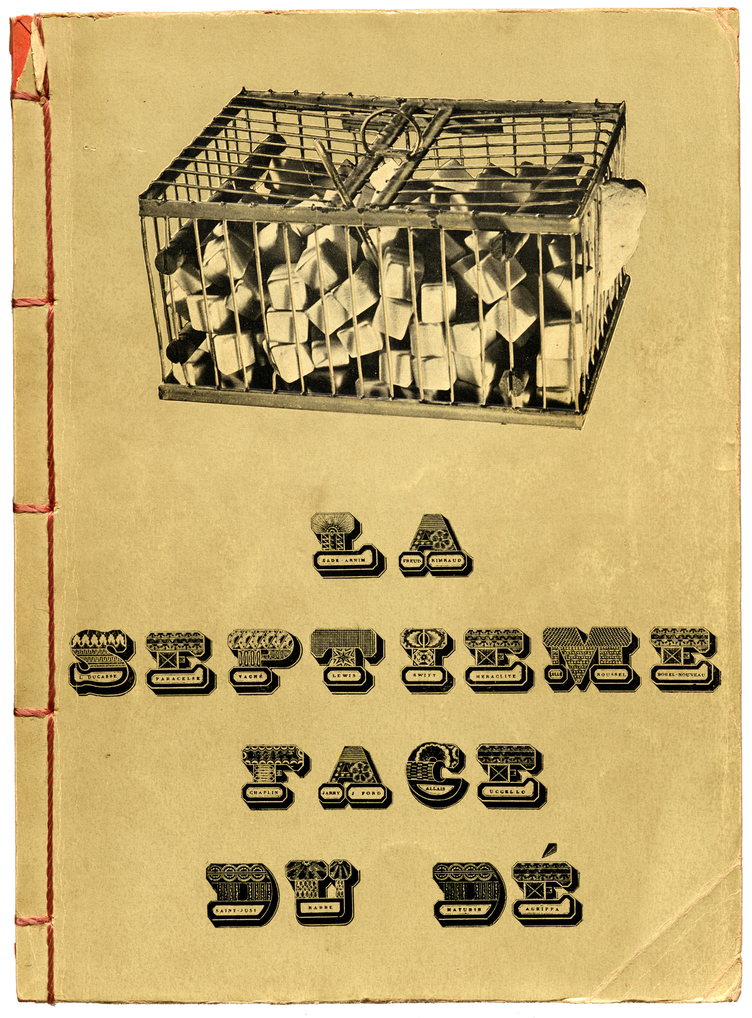"Marcel Duchamp, cover for George Hugnet's ""La septième face du dé"", éditions Jeanne Bucher, Paris, 1936, 30 x 22 cm"
