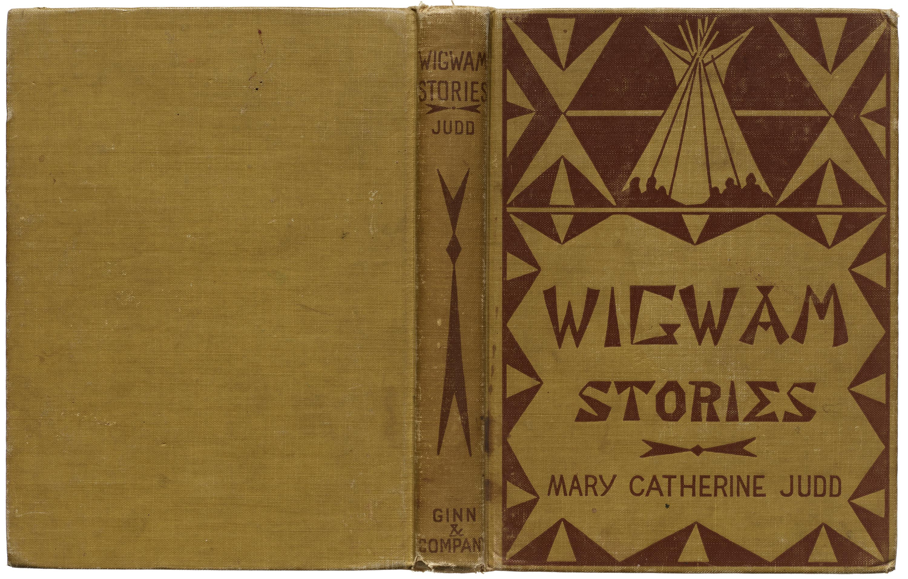 Angel DeCora, binding for Wigwam Stories, 1906 (first published 1902), Collection of LfA.