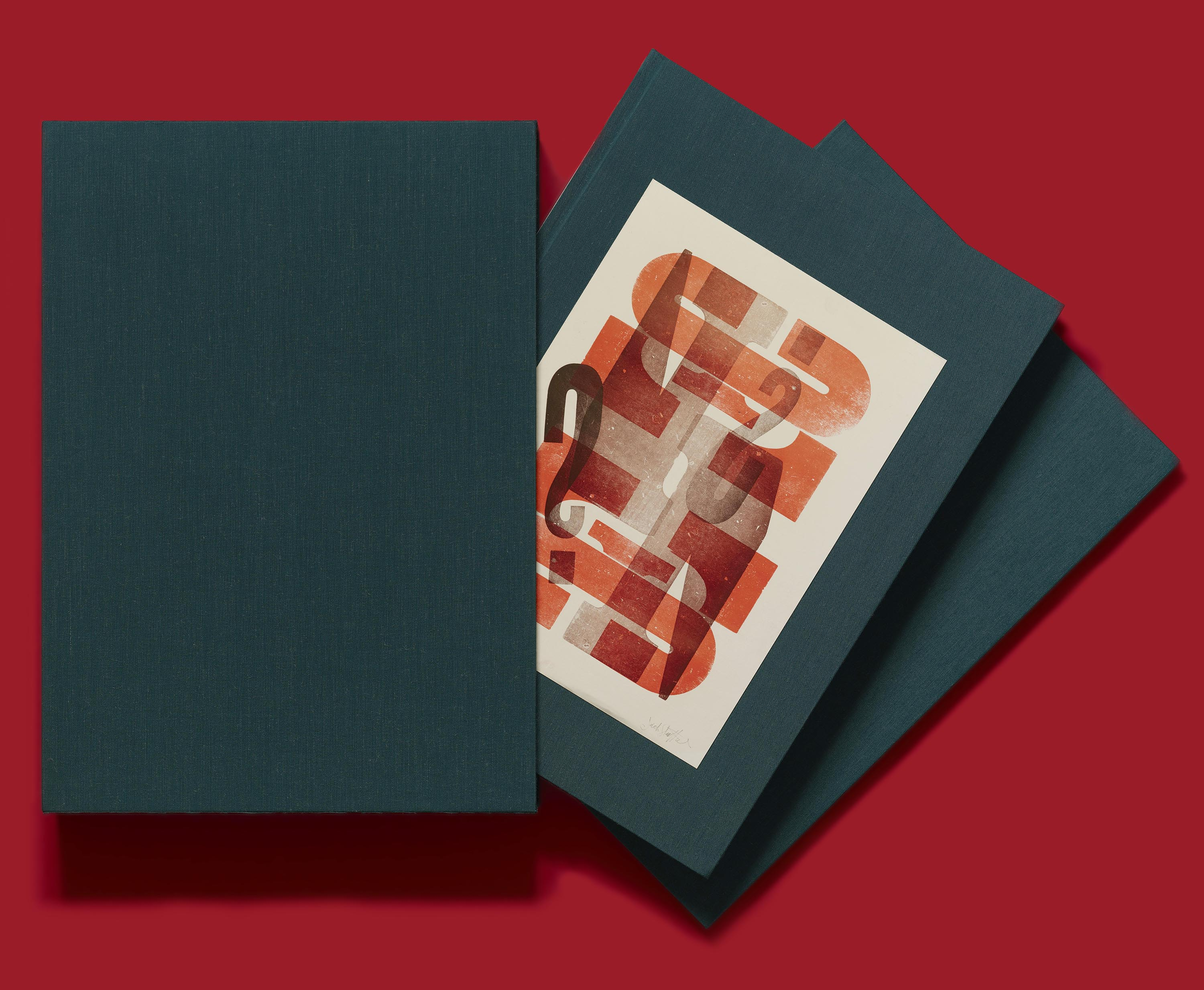 The deluxe edition of Only on Saturday, with its portfolio of letterpress proofs.