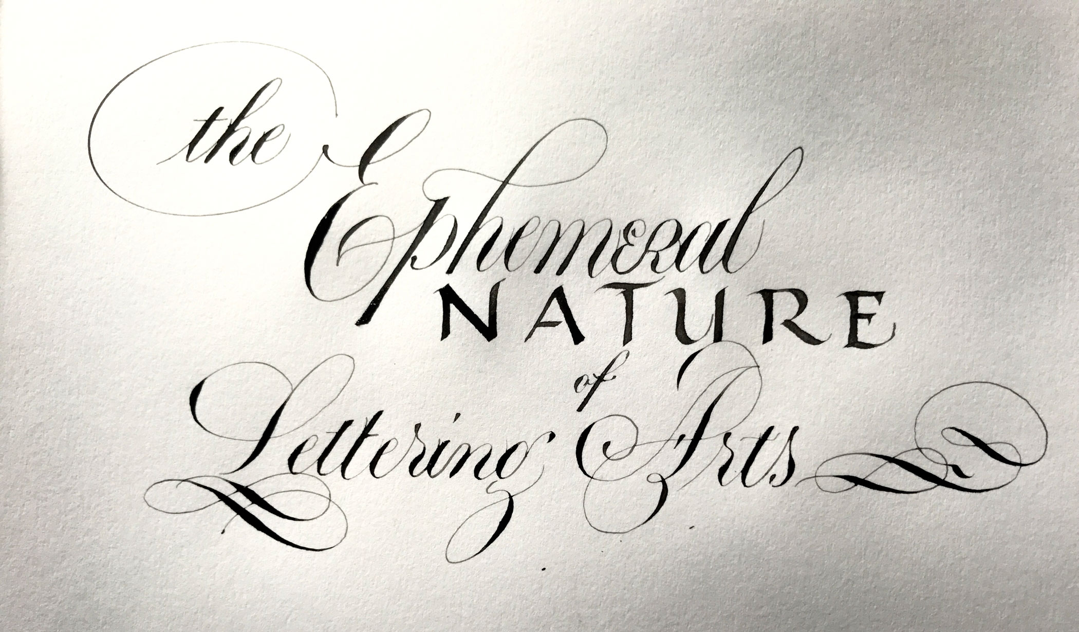 The Ephemeral Nature of Lettering Arts