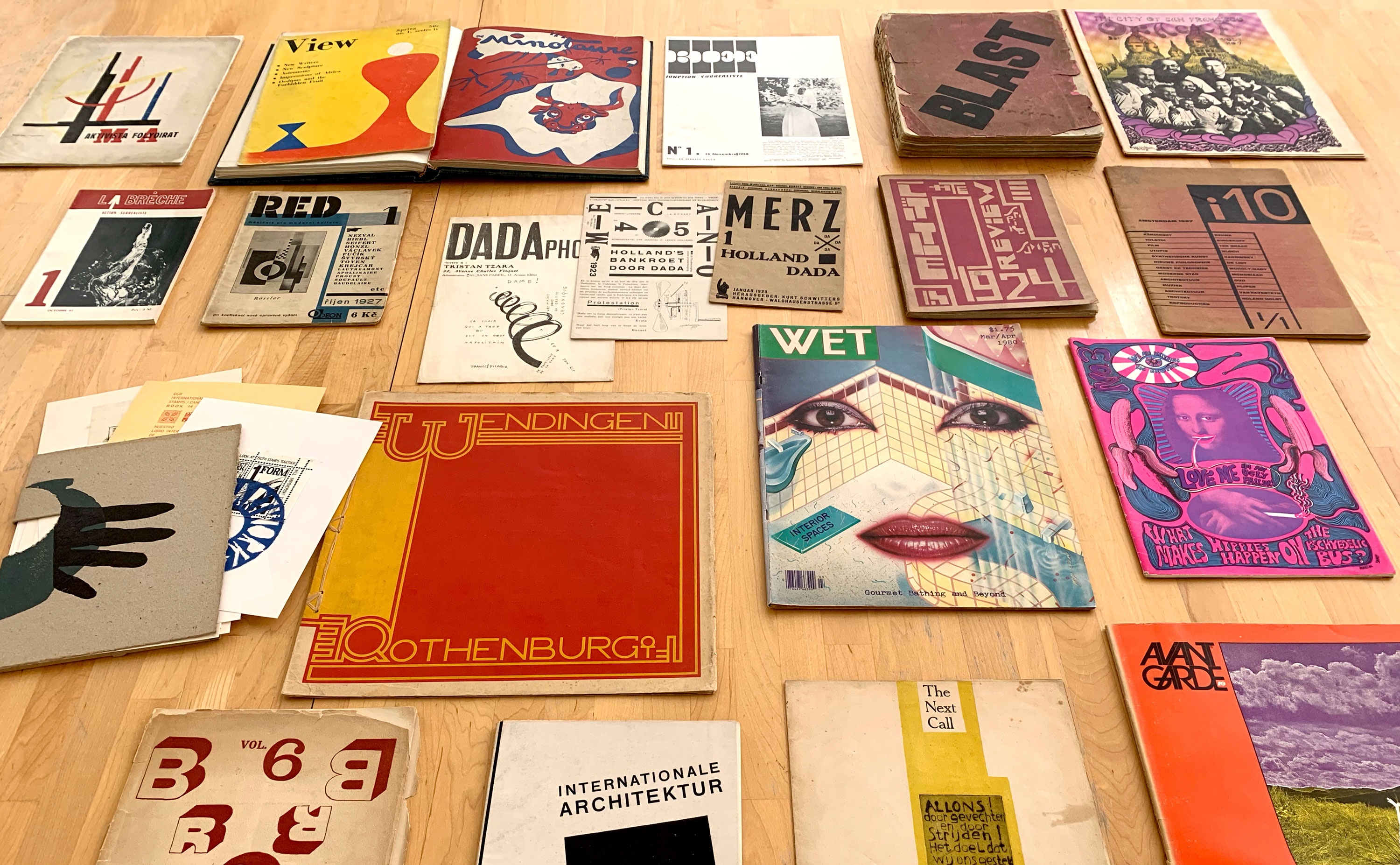 A sampling of avant-garde periodicals at Letterform Archive