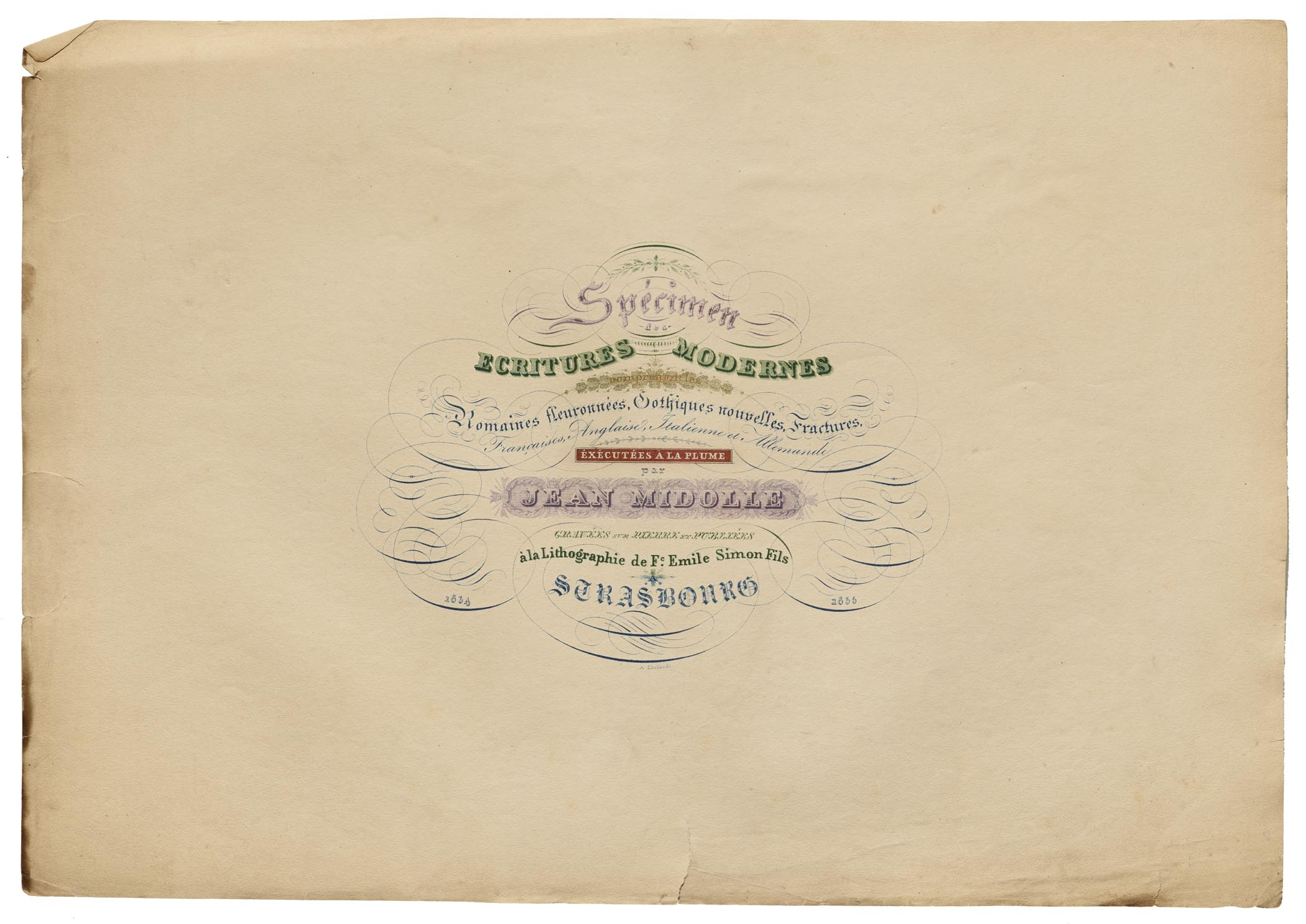 Jean Midolle, Title Page, Emile Simon fils press, France, 1835.