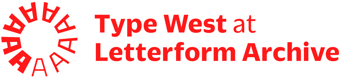 Type West at Letterform Archive logo