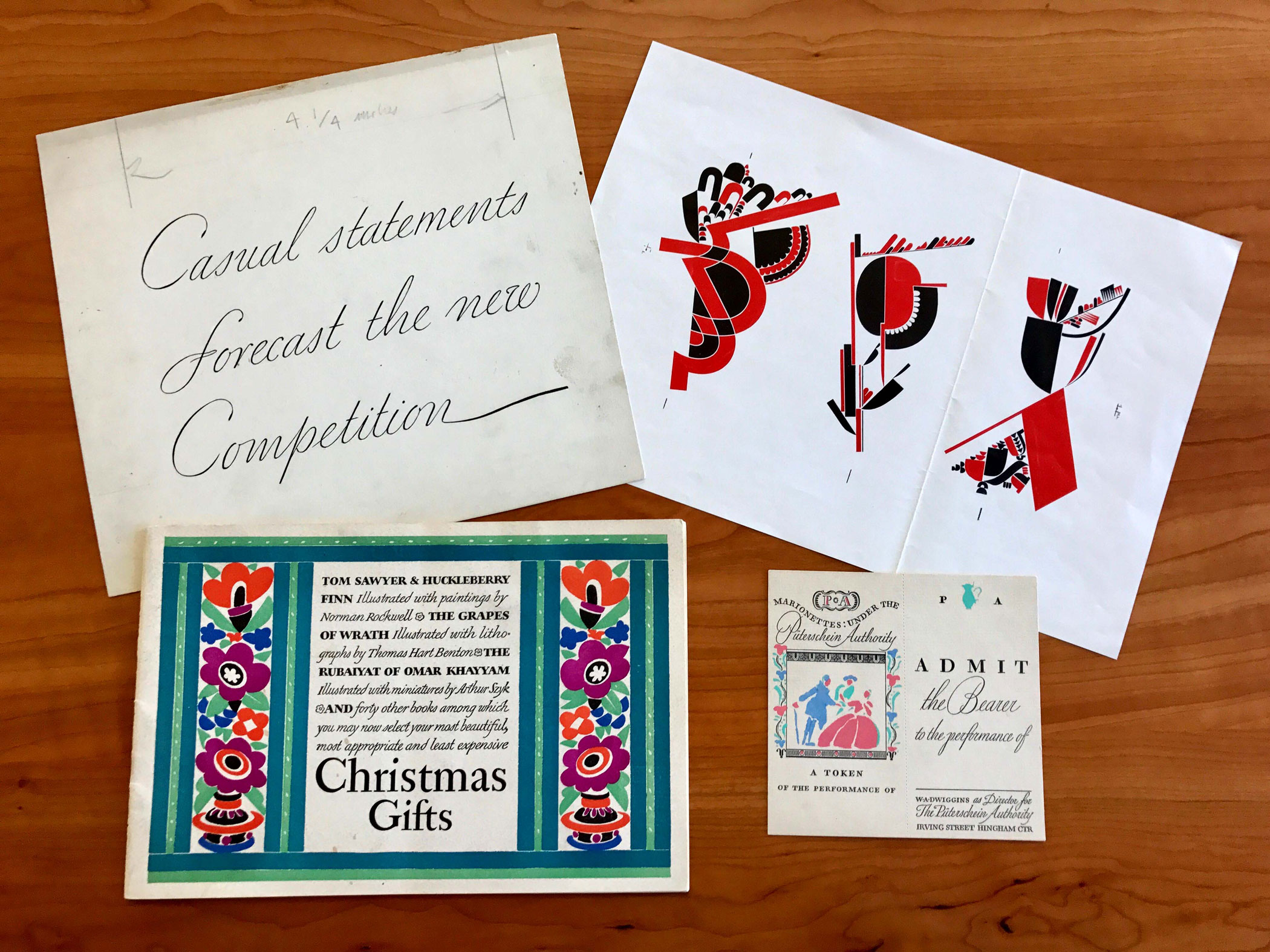 W. A. Dwiggins Pop-up Exhibition
