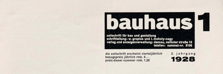 Periodicals as Collections, No. 2: <cite>bauhaus</cite>