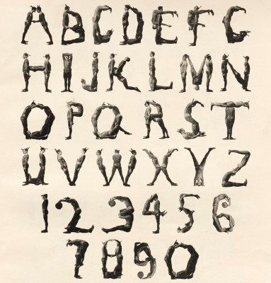 """A Human Alphabet"", The Three Delevines, William FitzGerald, The Strand, Vol 14. New York, 1897."