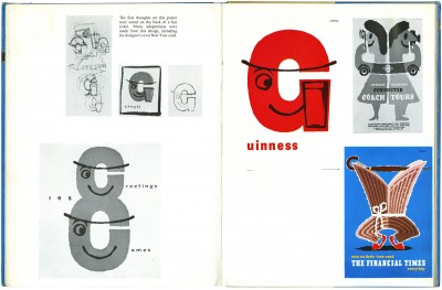 Abram Games, Guinness G poster, ca. 1956. As seen in Abram Games, Over My Shoulder: Graphic Design by A. Games, Studio Books, London, 1960.