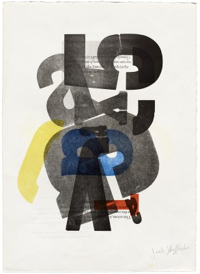 Jack Stauffacher, untitled make-ready sheet, date unknown. Private collection.