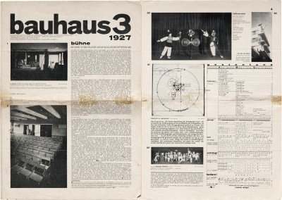 Pages 1 and 4 of bauhaus 3, 1927.