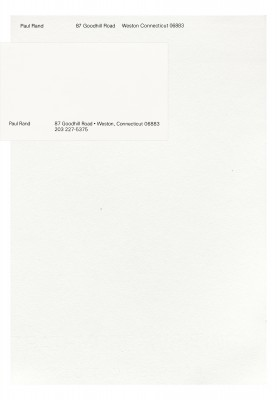 Paul Rand letterhead and business cards, 1960-1980.