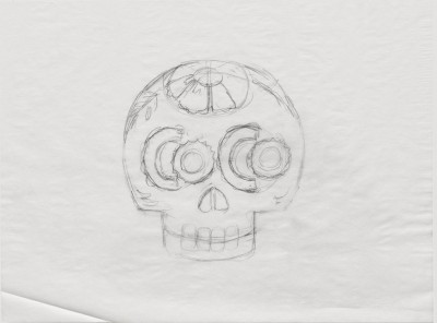 Title treatment sketch for Coco