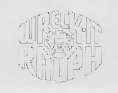 Title treatment sketch for Wreck-It Ralph.