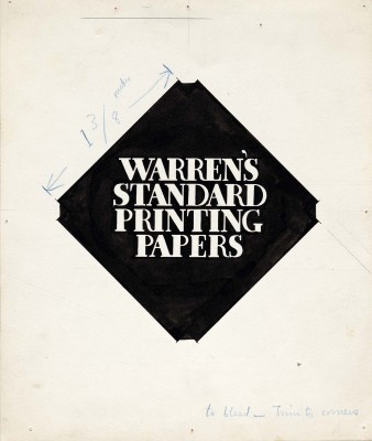 Original artwork, Warren's Standard Printing Papers.