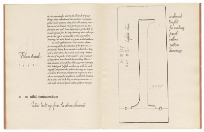 W. A. Dwiggins, spread from WAD to RR: A Letter About Designing Type (Cambridge: Harvard College Library, 1940). Collection of Letterform Archive.