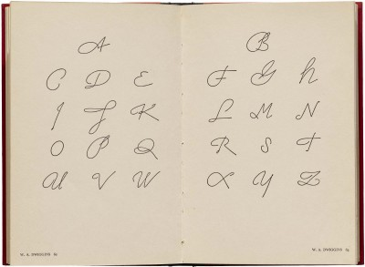 W. A. Dwiggins, interior spread from American Alphabets (New York: Harper & Brothers, 1930). Collection of Letterform Archive.