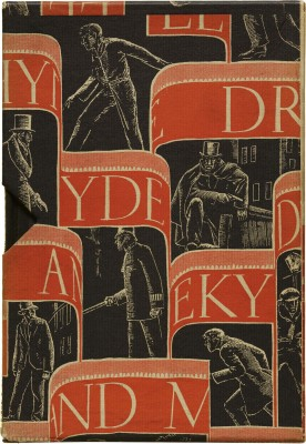 W. A. Dwiggins-designed slipcase for Robert Louis Stevenson's Strange Case of Dr. Jekyll and Mr. Hyde (New York: Random House, 1929). Collection of Letterform Archive.