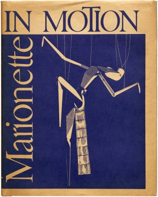 W. A. Dwiggins, cover for Marionette in Motion: The Püterschein System Diagrammed, Described (Detroit: Puppetry Imprints, 1939). Collection of Letterform Archive.