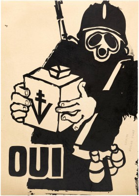 Atelier Populaire poster: Oui (Yes)