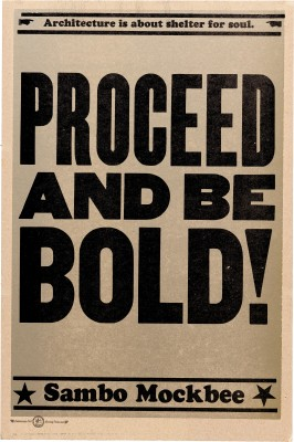 Amos Kennedy Jr., Proceed and Be Bold!