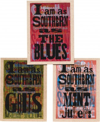 Amos Kennedy Jr., I Am As Southern As…, 2015. (Part of