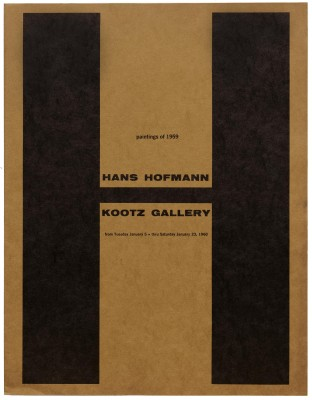 Elaine Lustig Cohen, exhibition catalog for Hans Hoffman, Kootz Gallery, New York, 1959.
