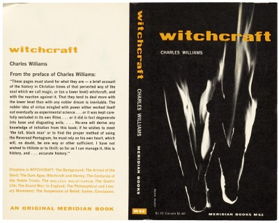 Elaine Lustig Cohen, paperback cover for Witchcraft, Meridian Books, New York, 1958.