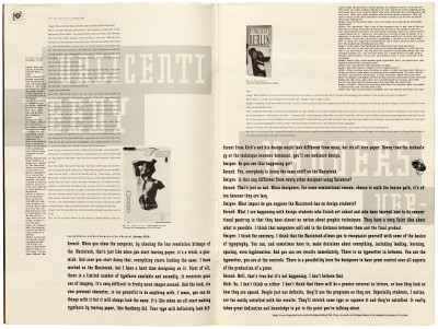 Pages 2–3, Emigre #11, Berkeley, Emigre Graphics, 1989.