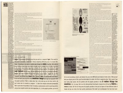 Pages 4–5, Emigre #11, Berkeley, Emigre Graphics, 1989.