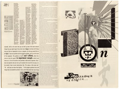 Pages 6–7, Emigre #11, Berkeley, Emigre Graphics, 1989.