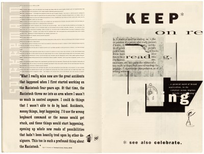 Pages 12–13, Emigre #11, Berkeley, Emigre Graphics, 1989.