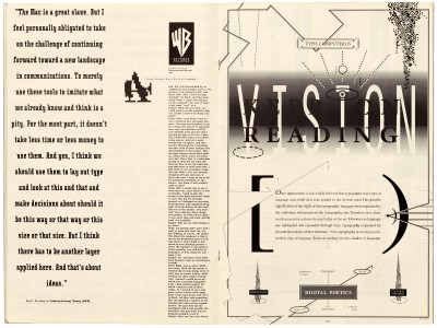 Pages 18–19, Emigre #11, Berkeley, Emigre Graphics, 1989.