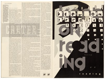 Pages 22–23, Emigre #11, Berkeley, Emigre Graphics, 1989.