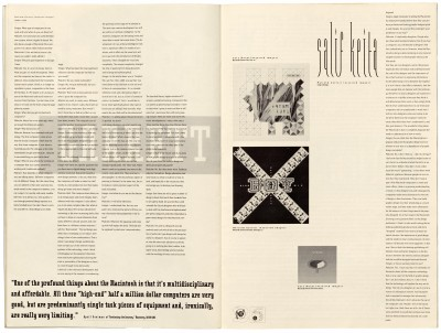 Pages 24–25, Emigre #11, Berkeley, Emigre Graphics, 1989.