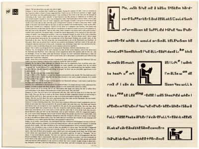 Pages 26–27, Emigre #11, Berkeley, Emigre Graphics, 1989.