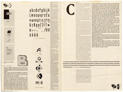 Pages 30–31, Emigre #11, Berkeley, Emigre Graphics, 1989.