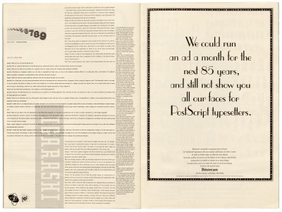 Pages 32–33, Emigre #11, Berkeley, Emigre Graphics, 1989.