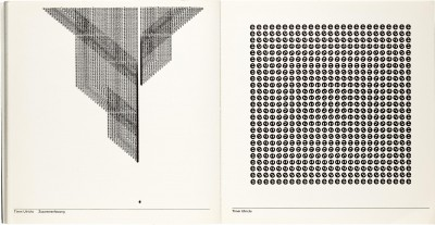 Timm Ulrichs, Zusammenfassung and [Untitled] in Visuelle Poesie, ca. 1968.