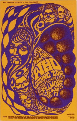 Bonnie MacLean, The Who at The Fillmore handbill, 1967.
