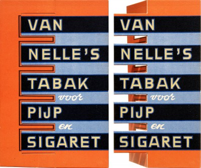 Jacob Jongert, Van Nelle's tobacco point of sale standing sign, Rotterdam, ca. 1930.