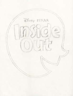 Title treatment sketch for Inside Out.