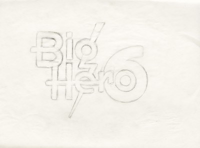 Title treatment sketch for Big Hero 6.