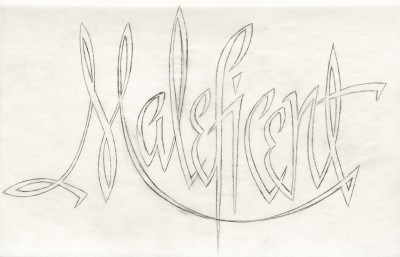 Title treatment sketch for Maleficent.