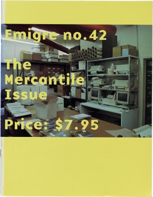 Cover of Emigre #42: The Mercantile Issue, 1997.