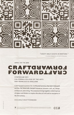 Mark Fox and Angie Wang / Design is Play, CCA Craft Forward poster, 2011.